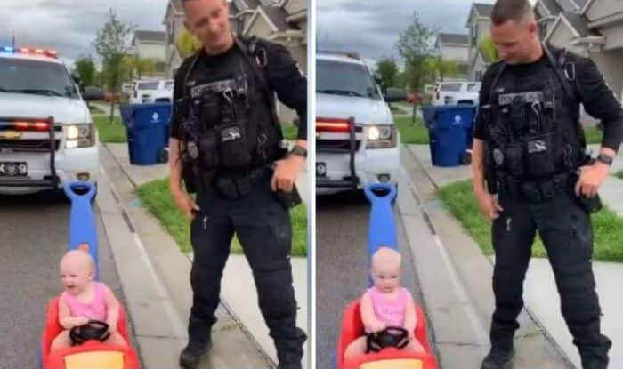 American Cop Pulls Over 10-month-old Daughter