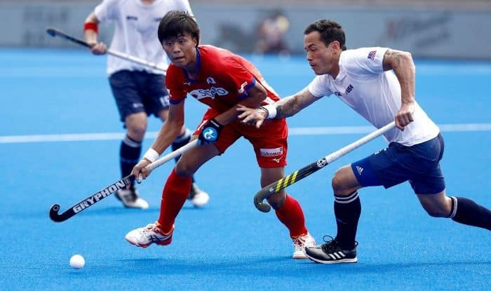 USA Vs Japan in FIH Series Finals hockey tournament.