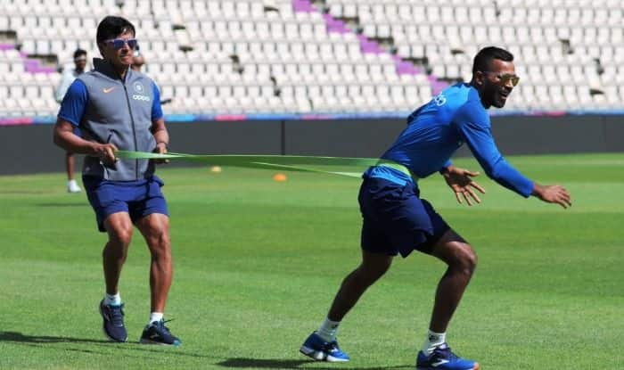 Indian Player practicing ahead of their first World Cup game