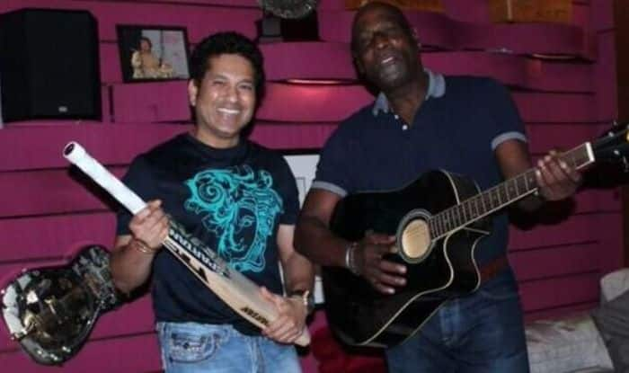 Vivian Richards and Sachin Tendulkar