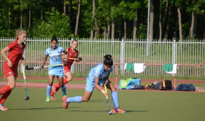 Indian junior women's hockey team Vs Belarus Senior team