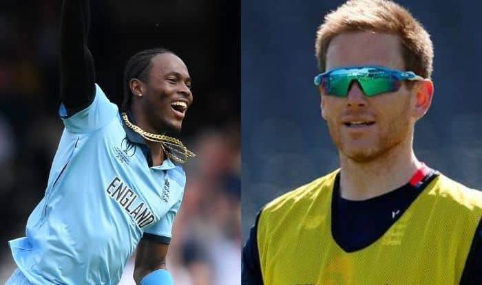 Jofra Archer and Eoin Morgan