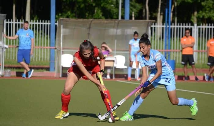 Indian Jr. Women's Team hauled the Senior Belarus Team to a 1-1 draw in their 4th match of the tour.