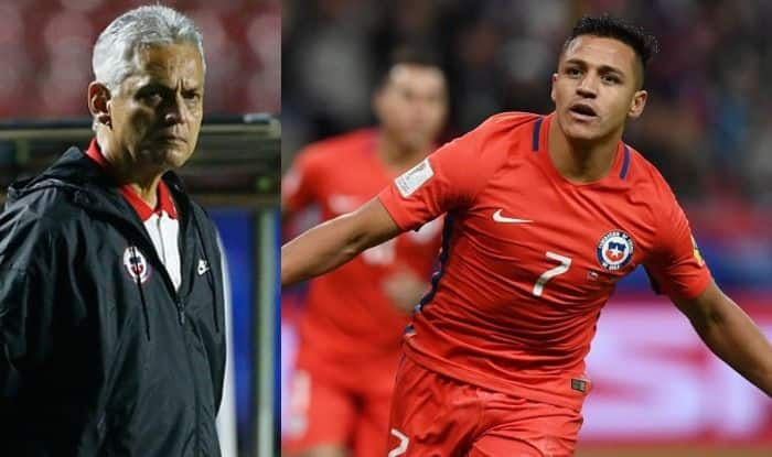 Alexis Sanchez and Coach Reinaldo Rueda