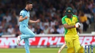 ICC Cricket World Cup 2019: England Restrict Aussies to 285/7 Despite Aaron Finch Ton