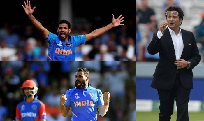 Bhuvneshwar Kumar, Mohammed Shami and Sachin Tendulkar, ICC Cricket World Cup 2019, CWC19
