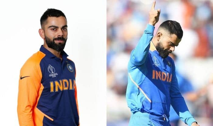 Virat Kohli, Team India, Orange Jersey, New Jersey, BCCI, ICC Cricket World Cup 2019, ICC World Cup 2019, CWC19, India vs England, IND vs ENG, Blue Jersey, Men in Blue, Bleed Blue, MS Dhoni