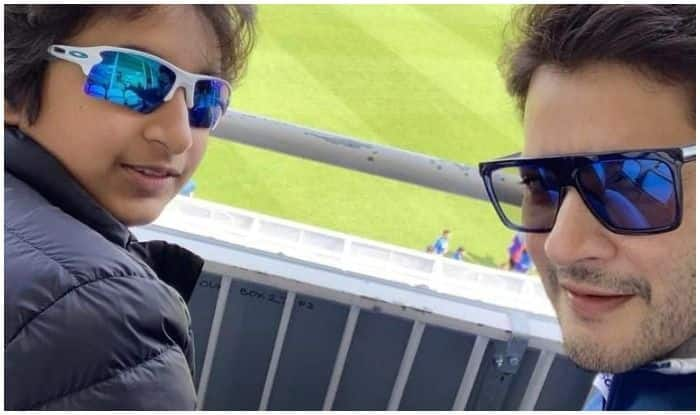 Mahesh Babu's Excited Selfie With Son From The Oval During IND vs AUS World Cup Breaks The Internet