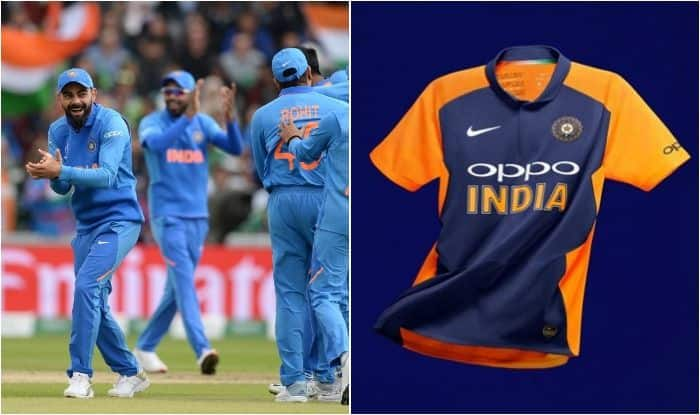 Team India Away Jersey, Team India Orange Jersey, Team India Away Outfit, ICC Cricket World Cup 2019, ICC World Cup 2019, Team India World Cup 2019, India vs England, England vs India World Cup, Indian Cricket Team Away Jersey, Virat Kohli, Cricket News, Team India Orange Jersey