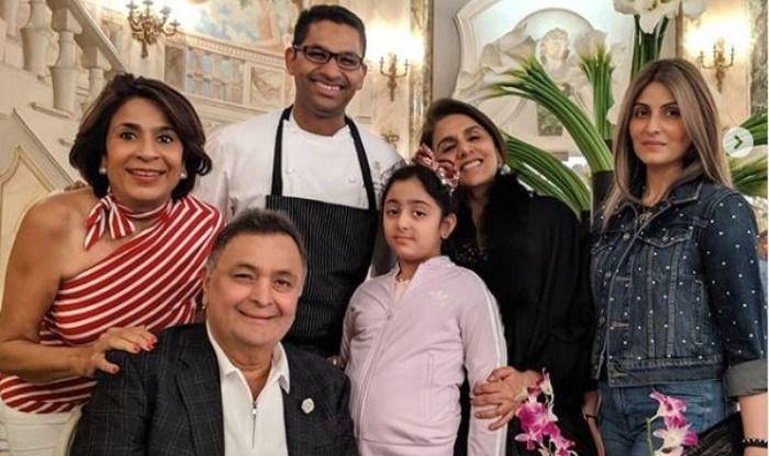 Rishi Kapoor, Neetu Kapoor, Riddhima Kapoor Sahni, Samara Sahni
