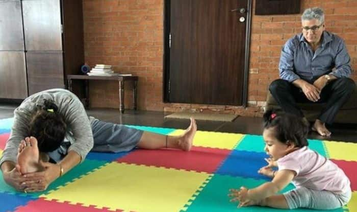 Kunam Kemmu, Soha Ali Khan, Inaaya Naumi Kemmu, international yoga day