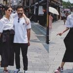 Anand Ahuja-Sonam Kapoor Hit The Streets of Japan Twinning in Black And White Outfits