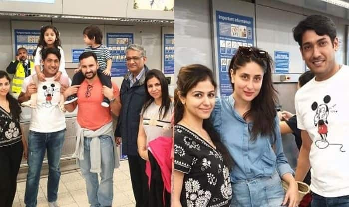 Saif Ali Khan, Kareena Kapoor Khan, Taimur Ali Khan in London
