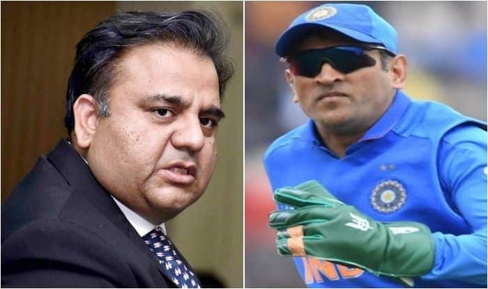 MS Dhoni, Pakistan Minister Takes Jibe at Dhoni, Pakistan minister, Pakistan Minister Fawad Hussain Chaudhry, MS Dhoni Wicketkeeping Gloves, Army Insignia, Dhoni gloves controversy, MS Dhoni Fawad Hussain Chaudhry, ICC Cricket World Cup 2019, MS Dhoni World Cup Controversy, Cricket News