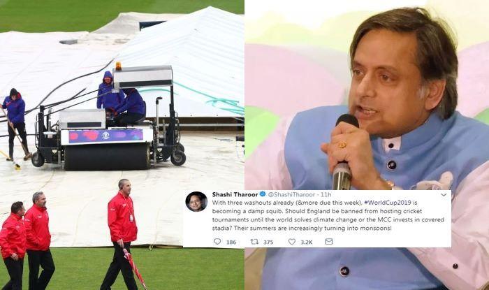 ICC World Cup 2019, Shashi Tharoor, Congress MP Shashi Tharoor, World Cup Match Washed Out, Bangladesh vs Sri Lanka, BAN VS SL, South Africa vs West Indies, SA vs WI,