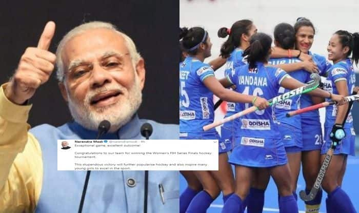 Indian women hockey team, indian women hockey team win FIH Series Finals, Narendra Modi Congratulates Indian women hockey team, Narendra Modi, PM Modi Congratulates Indian women hockey team,
