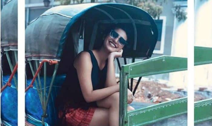 Priya Prakash Varrier Enjoys Vacation in Pondicherry While Riding in Rickshaw -See Pics