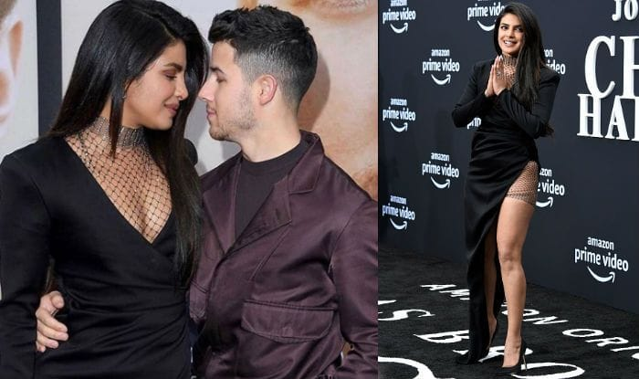 That Jaw-Dropping Slit on Priyanka Chopra's Black Dress is How You Mix Sex Appeal With Being Classy