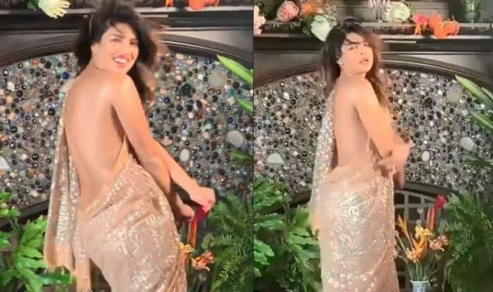 Priyanka Chopra Recreates 'Desi Girl' Moment for a Magazine Cover, Wears a Saree Without Blouse- Watch