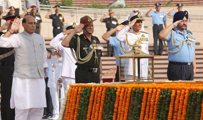 Rajnath Singh Visits National War Memorial Ahead of Taking Charge as Defence Minister