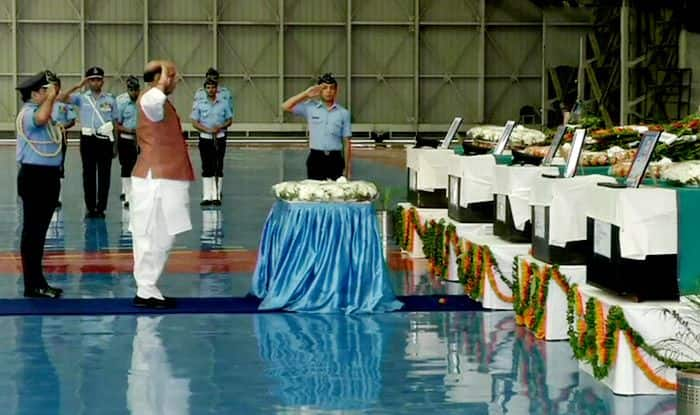 Rajnath Singh Pays Homage to 13 IAF Personnel Killed in AN-32 Crash