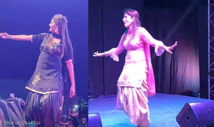 Haryanvi Sensation Sapna Choudhary Flaunts Killer Belly Dance And Thumkas at a Recent Stage Show in Visakhapatnam-Watch