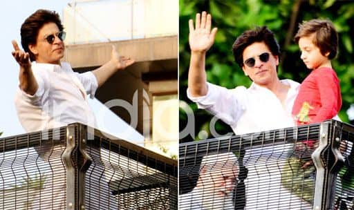 Watch: Shah Rukh Khan Opens His Arms For Fans on Eid