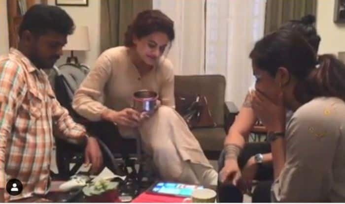Taapsee Pannu Plays Ludo With Crew And You Can't Miss Her Child Like Reaction After Winning The Game