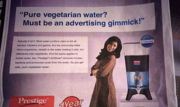 Water Purifier Advertisement Claims to Give 'Vegetarian Water', Leaves Internet in Splits