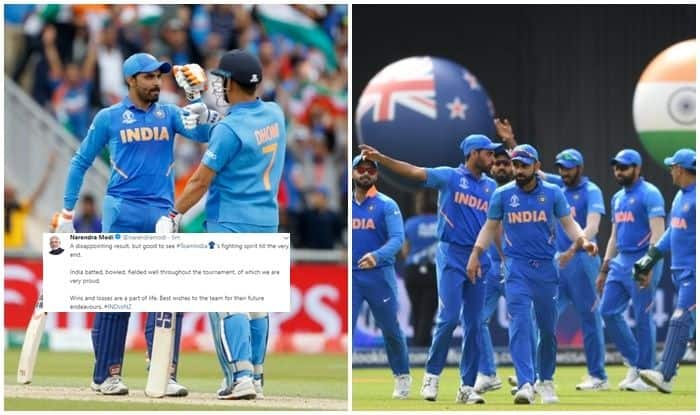 Prime Minister Narendra Modi congratulates PM Narendra Modi, Twitter reactions after India loss, Virat Kohli and Co, Narendra Modi wishes, New Zealand beat India, New Zealand beat India to reach finals, India vs New Zealand, Manchester, Old Trafford, ICC Cricket World Cup 2019, 2019 ICC Cricket World Cup