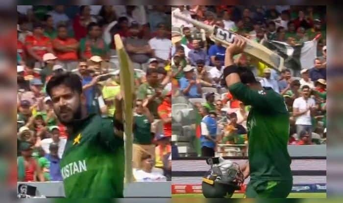 Imad Wasim, Imad Wasim raises bat on 43, Lords, Pakistan beat Bangladesh by 94 runs, Pak vs Ban, ICC Cricket World Cup 2019, ICC World Cup 2019, Cricket News