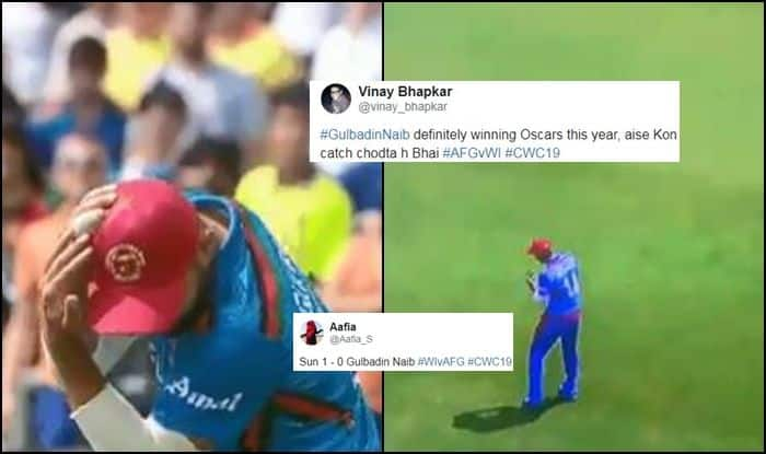 Gulbadin Naib, Gulbadin Naib catch drop, Gulbadin Naib catch, Sun, Best Catches, 2019 World Cup Best Catches, West Indies vs Afghanistan, Ben Stokes Catch, Steve Smith catch, Cricket News, West Indies beat Afghanistan