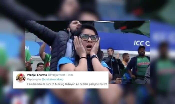 India vs Bangladesh, India fan girl, Team India fan girl, fangirl expression goes viral, Ind vs Ban, ICC Cricket World Cup 2019, Match no 40, Edgbaston, Birmingham, Cricket News, Indian Cricket National Team, Team India, Indian Cricket Team