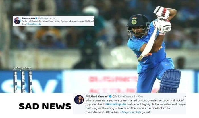 Ambati Rayudu, Ambati Rayudu retires, Ambati Rayudu retires from all form of cricket, Ambati Rayudu retires from international cricket, Ambati Rayudu dropped, Ambati Rayudu BCCI, BCCI, ICC World Cup 2019, Indian team, Twiter reacts, twitter says sorry to Ambati Rayudu, Twitter Ambati Rayudu,