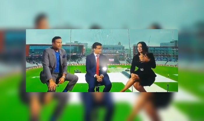Sourav Ganguly TROLLing Sachin Tendulkar, Rahul Dravid, VVS Laxman With 'Gentleman' Remark During ICC Cricket World Cup 2019 Semi-Final 1 Between India-New Zealand is Unmissable | WATCH VIDEO