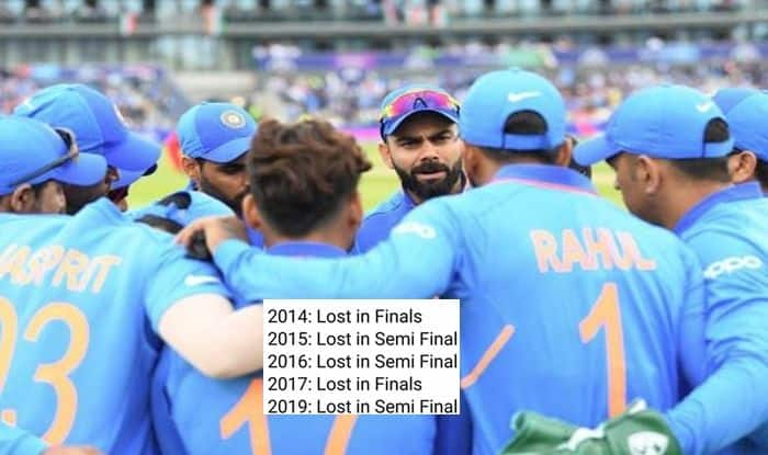 Team India Are New Chokers, Team India, Indian Cricket Team, ICC CWC 2019 Semi-Finals, Cricket News, Virat Kohli, India vs New Zealand, ICC tournaments