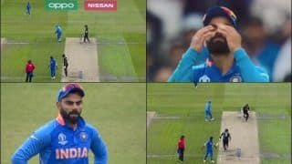 As MS Dhoni Misses Easy Catch, Virat Kohli Reacts During ICC Cricket World Cup 2019 Semi-Final 1 Between India-New Zealand