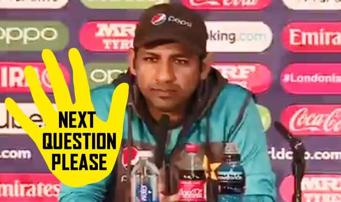 Sarfaraz Ahmed, Champions Trophy 2017, Sarfaraz Ahmed avoids journalists question, Sarfaraz Ahmed does not answer, Sarfaraz Ahmed trolled, Sarfaraz Ahmed funny memes, Sarfaraz Ahmed Press Conference, We will try to score 500, ICC Cricket World Cup 2019, ICC World Cup 2019, Pakistan Cricket Team, Pakistan semi-final scenario, How can Pakistan qualify, 2019 ICC CWC, Cricket News, Manchester, Edgbaston, PCB, Indian Cricket Team, Pakistan vs Bangladesh, Pak vs Ban