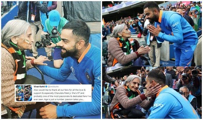Virat Kohli meeting daadi, Virat Kohli takes blessings, Charulata Patel, Virat Kohli posts heartfelt message for daadi, India beat Bangladesh, Indian dadi, Indian dadi expressions, Indian fans, dadi goes viral, Twitter Viral, Twitter Trending, India vs Bangladesh, Ind vs Ban, ICC Cricket World Cup 2019, Match no 40, Edgbaston, Birmingham, Cricket News, Indian Cricket National Team, Team India, Indian Cricket Team, India beat Bangladesh by 28 runs, India reach semi-finals