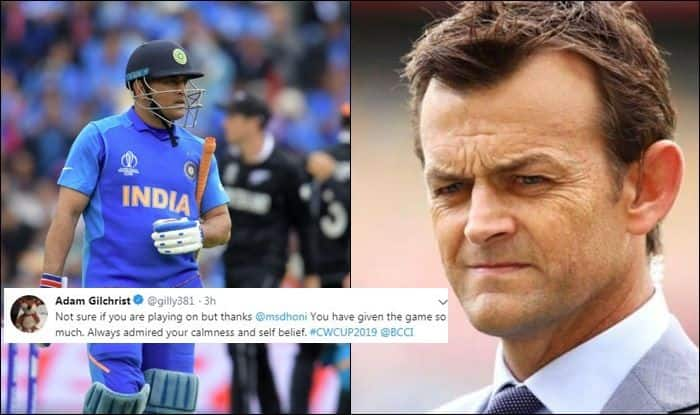MS Dhoni, MS Dhoni, retirement, #DontRetireDhoni, Adam Gilchrist praises MS Dhoni, MS Dhoni six, Fans ask Dhoni not to retire, MS Dhoni dismissal, MS Dhoni runout fake news, MS Dhoni retiring, MS Dhoni runout, ICC Cricket World Cup 2019 Semi-Final 1, ICC World Cup 2019 Semi-Final 1, Cricket News, New Zealand beat India by 18 runs, Manchester, Old Trafford, World Cup 2019, Captain Cool, Mahi