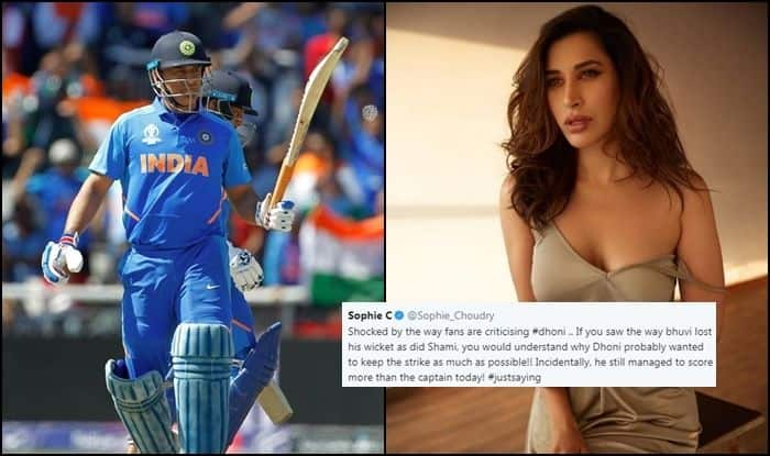 MS Dhoni, MS Dhoni trolled, Sophie Choudry, Sophie Choudry hails MS Dhoni, India vs Bangladesh, Ind vs Ban, ICC Cricket World Cup 2019, Match no 40, Edgbaston, Birmingham, Cricket News, Indian Cricket National Team, Team India, Indian Cricket Team