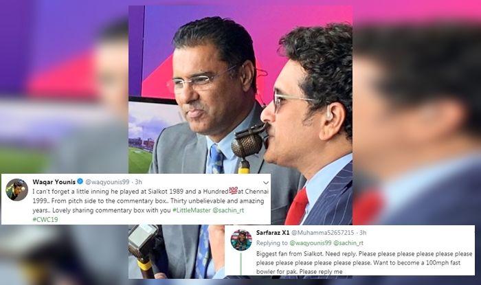 Waqar Younis, Waqar Younis recalls Sachin Tendulkar bouncer, Sachin Tendulkar debut, India vs Pakistan, Indian Cricket Team, Cricket News, Waqar Younis emotional tweet, ICC, Hall of Fame