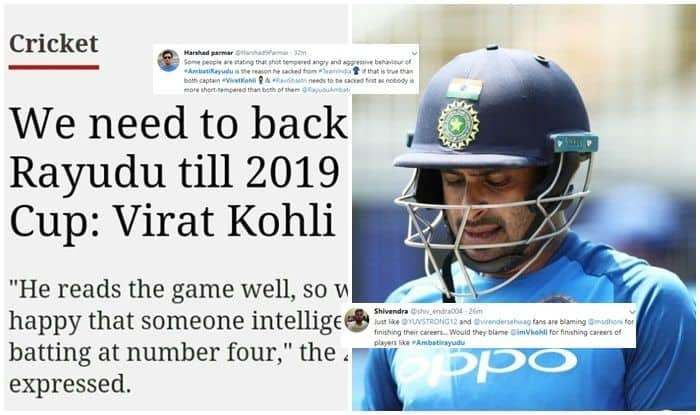 Ambati Rayudu, Virat Kohli, Ambati Rayudu retires, Ambati Rayudu retires from all form of cricket, Ambati Rayudu retires from international cricket, Ambati Rayudu dropped, Ambati Rayudu BCCI, BCCI, ICC World Cup 2019, Indian team, Twiter reacts, twitter says sorry to Ambati Rayudu, Twitter Ambati Rayudu, Indian Captain Virat Kohli