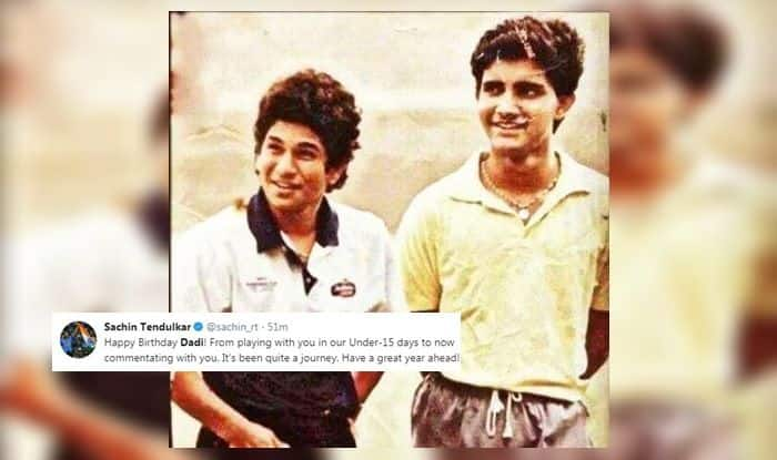 Sourav Ganguly-Sachin Tendulkar record partnership, Sachin Tendulkar wishes Sourav Ganguly, Dadi, Happy Birthday dada, Sourav Ganguly birthday, prince of Calcutta, Sourav Ganguly turns 47, most successful Indian captain, Dada, sourav ganguly twitter, sourav ganguly image, sourav ganguly natwest 2002 final, sourav ganguly Lord's, Sourav ganguly 2003, ICC World Cup 2003, Indian team 2003, Sourav ganguly record, Sourav ganguly centuries, Sourav ganguly vs dhoni, Ganguly vs dhoni captaincy records,