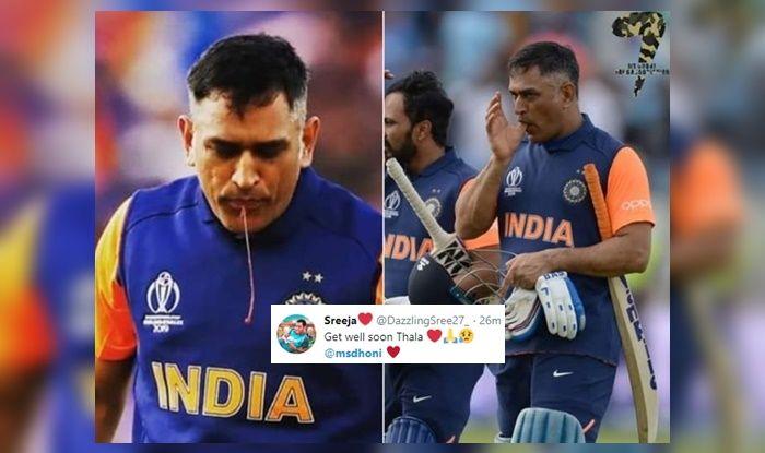 MS Dhoni, MS Dhoni spittng blood, MS Dhoni trolled, MS Dhoni runs, MS Dhoni strike-rate, ICC Cricket World Cup 2019, India vs Bangladesh, India vs England, Edgbaston, Birmingham