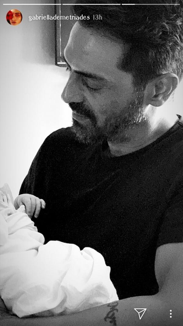 Arjun Rampal with his baby boy