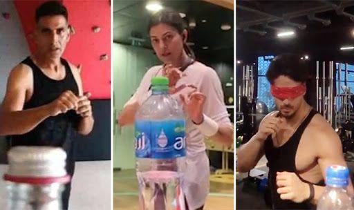 Watch: All The Interesting Celebrity Bottle-Cap Challenge Videos