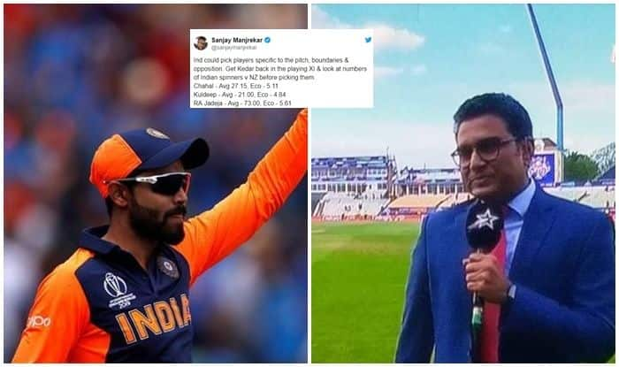 Sanjay Manjrekar trolled, Ravindra Jadeja, Sanjay Manjrekar predicts plaing 11, Sanjay Manjrekar drops Ravindra Jadeja from playing 11, bits and pieces cricketer,  Semi final predictions, India vs New Zealand, Manchester, IND vs NZ Cricket World Cup 2019 1st Semifinal, ICC Cricket World Cup 2019 1st Semifinal