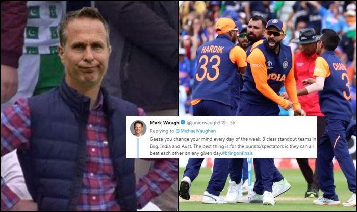 Michael Vaughan, Michael Vaughan trolled, ICC Cricket World Cup 2019, ICC World Cup 2019, CWC 2019 Semi-Final scenarios, Cricket News, England beat India, England Cricket Team, Mark Waugh, Indian Cricket Team