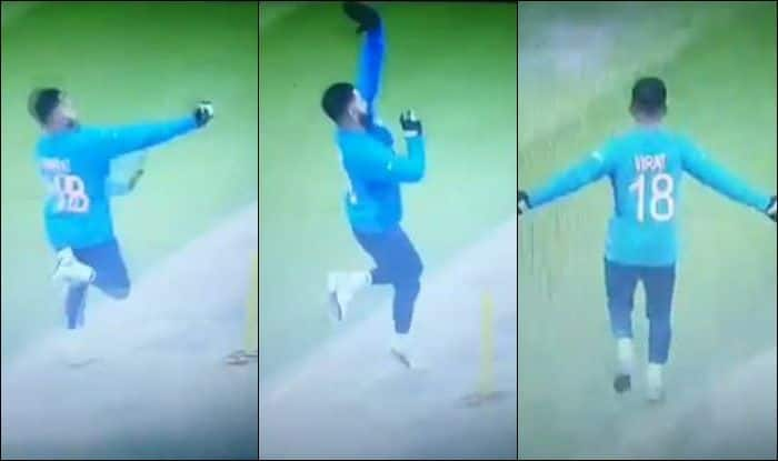 Virat Kohli, Virat Kohli mocks Jasprit Bumrah, Jasprit Bumrah, India vs New Zealand, ICC Cricket World Cup 2019, 2019 ICC Cricket World Cup 2019, Cricket News, Weather Forecast, Ind vs NZ, Manchester, Old Trafford, Virat Kohli bowling, India captain Virat Kohli